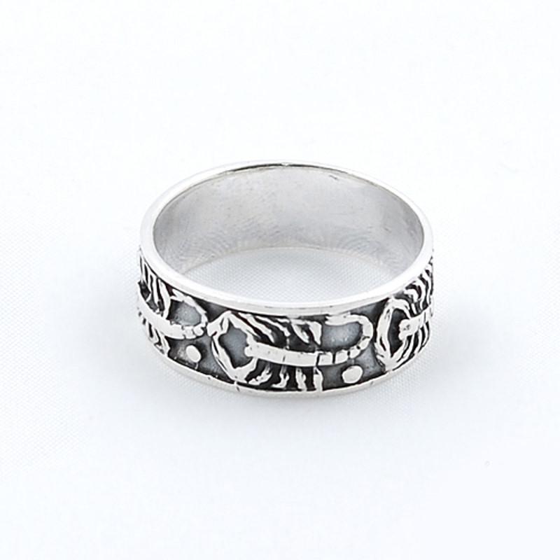 Inel Tip Verigheta Din Argint 925 Decorat Cu Model Scorpion Rankinero