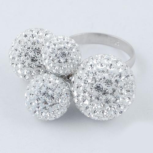 Inel de dama din Argint 925 cu cristale albe