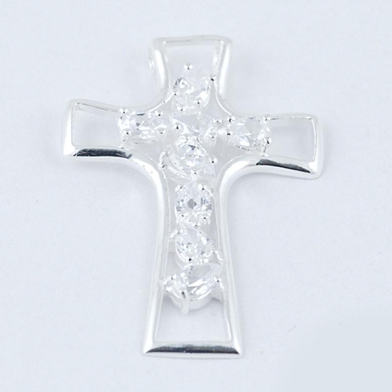 Pandantiv din Argint 925 decorat cu zircon alb