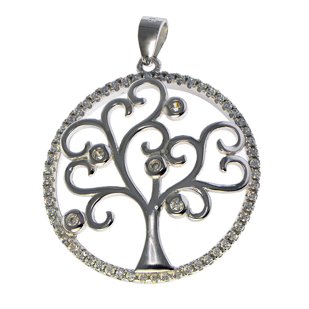 Pandantiv ''pomul vietii'' stilizat, din Argint 925
