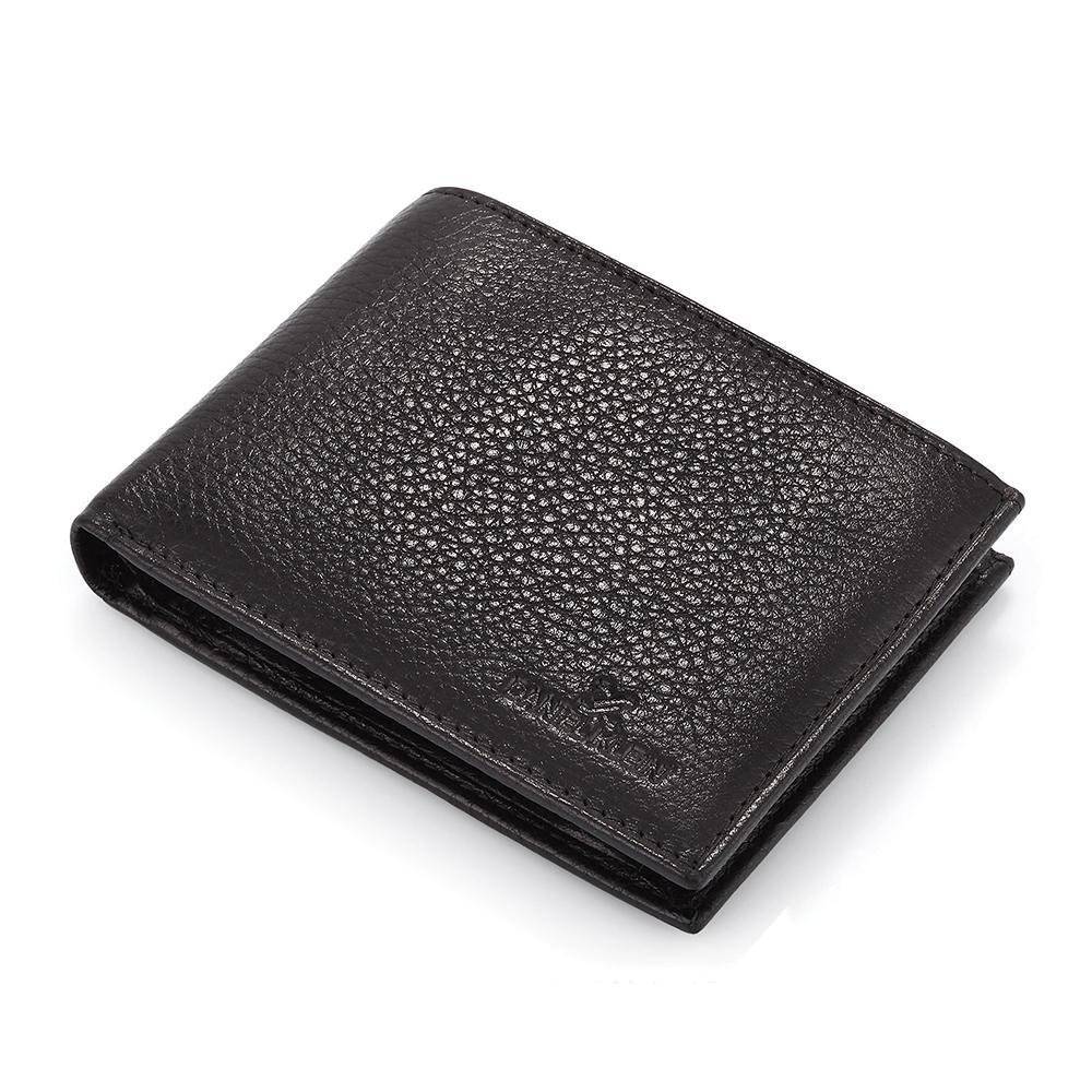 Portofel negru Daniel Klein pentru barbati, din piele naturala, DKW.1016.01