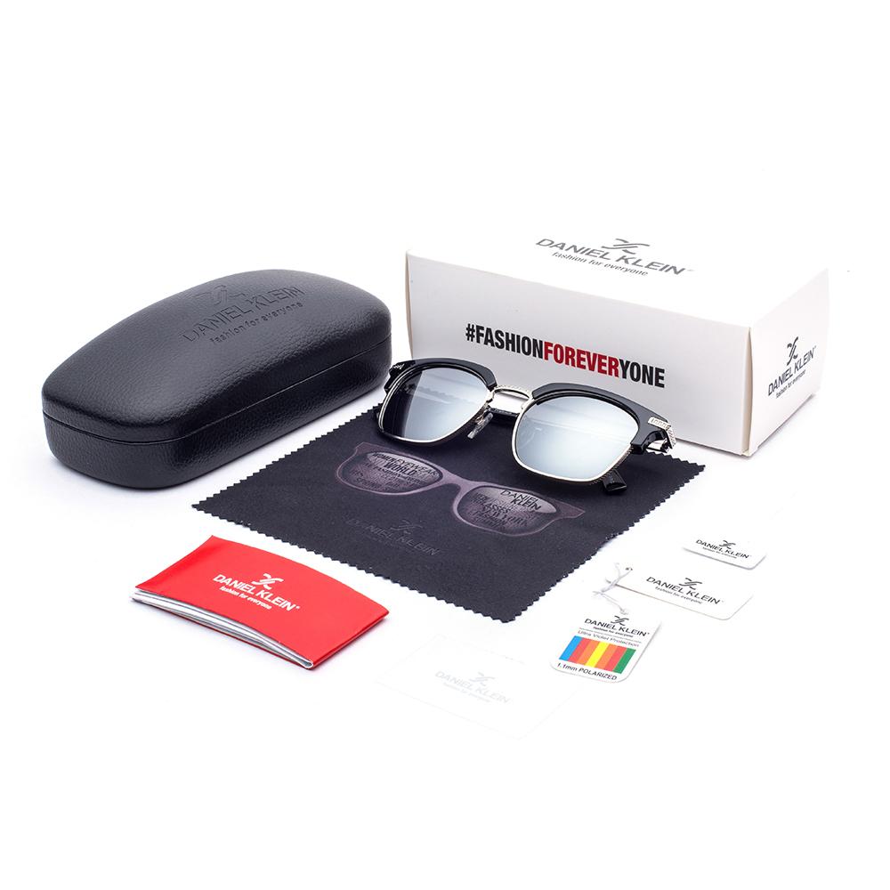 Ochelari de soare gri, pentru barbati, Daniel Klein Premium, DK3179-1