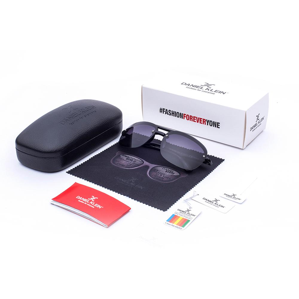 Ochelari de soare antracit, pentru barbati, Daniel Klein Premium, DK3165-2
