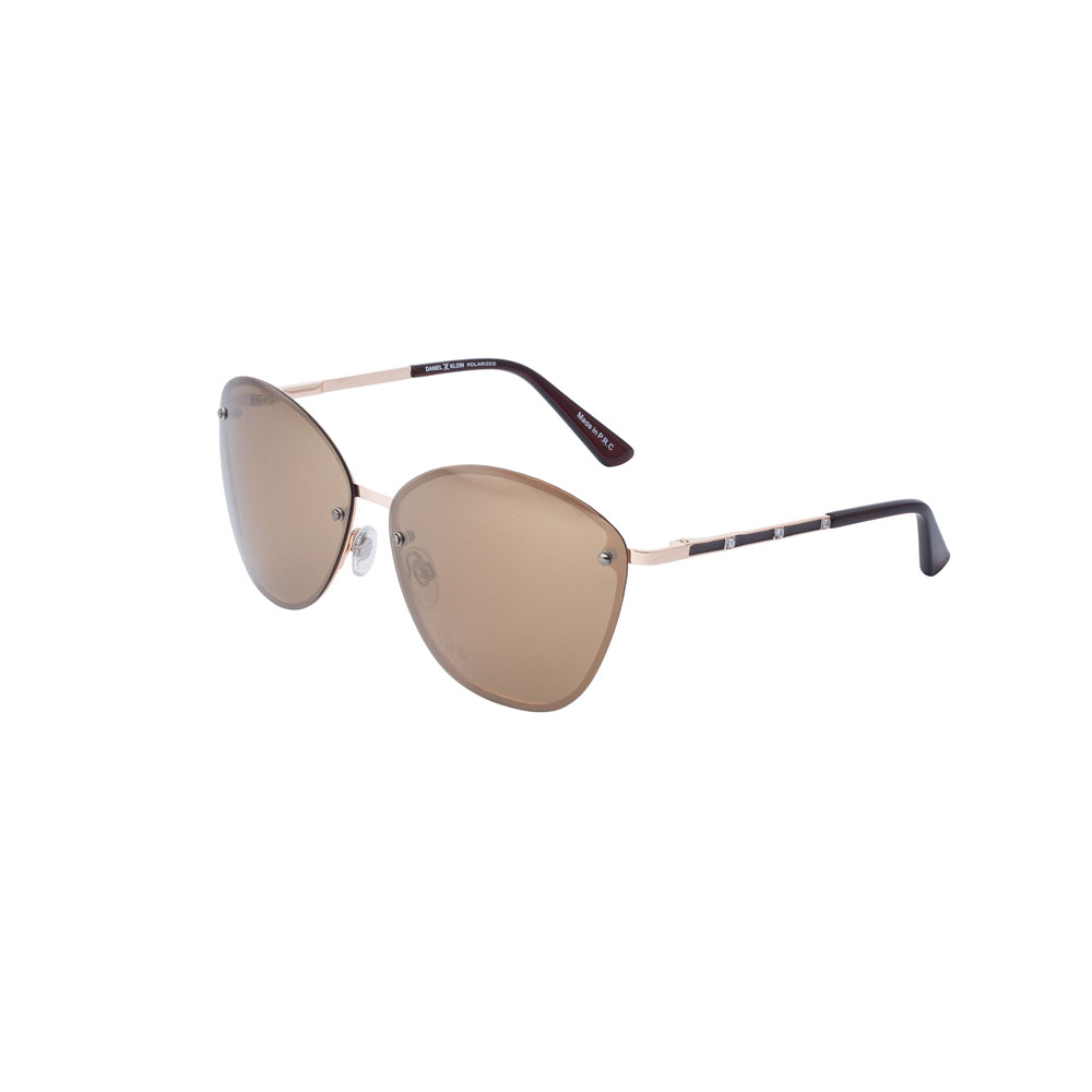 Ochelari de soare maro, pentru dama, Daniel Klein Trendy DK4220-2