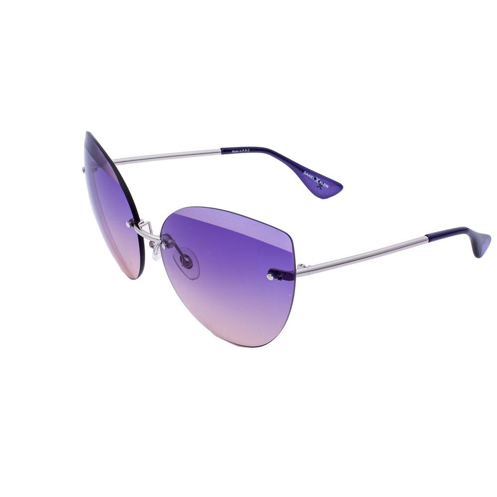 Ochelari de soare mov, pentru dama, Daniel Klein Trendy, DK4230P-5
