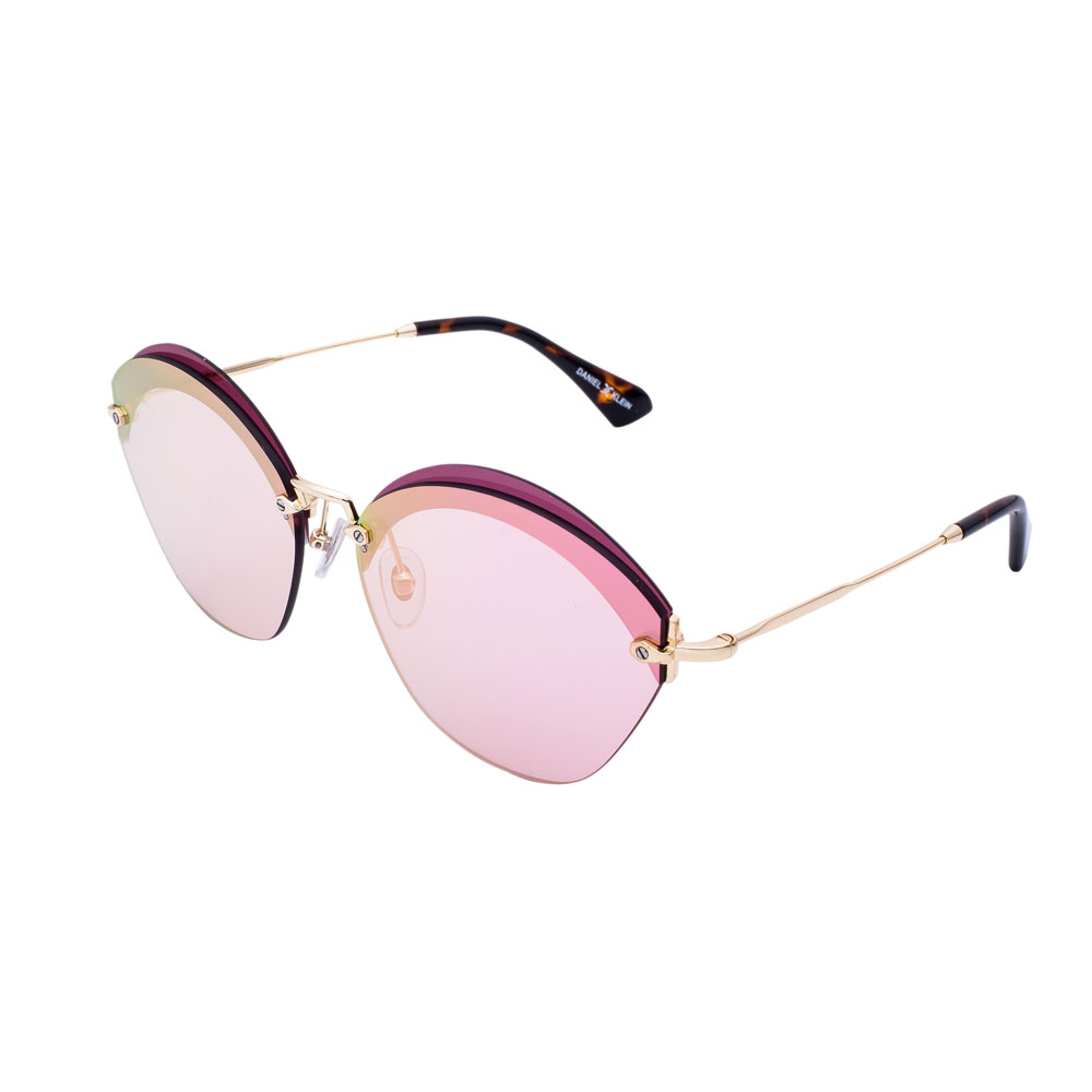 Ochelari de soare roz, pentru dama, Daniel Klein Trendy, DK4249-1