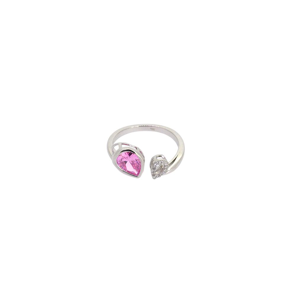 Inel din Argint 925, zirconiu roz, m57