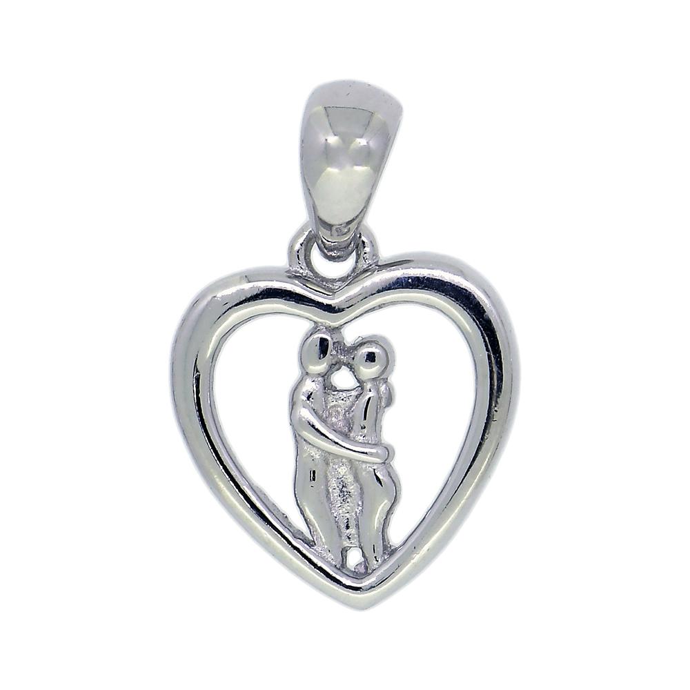 Pandantiv in forma de inima, din argint 926