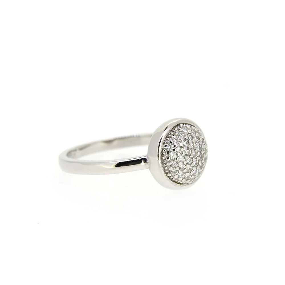 Inel din Argint 925, cu montura din zirconii albe, m51