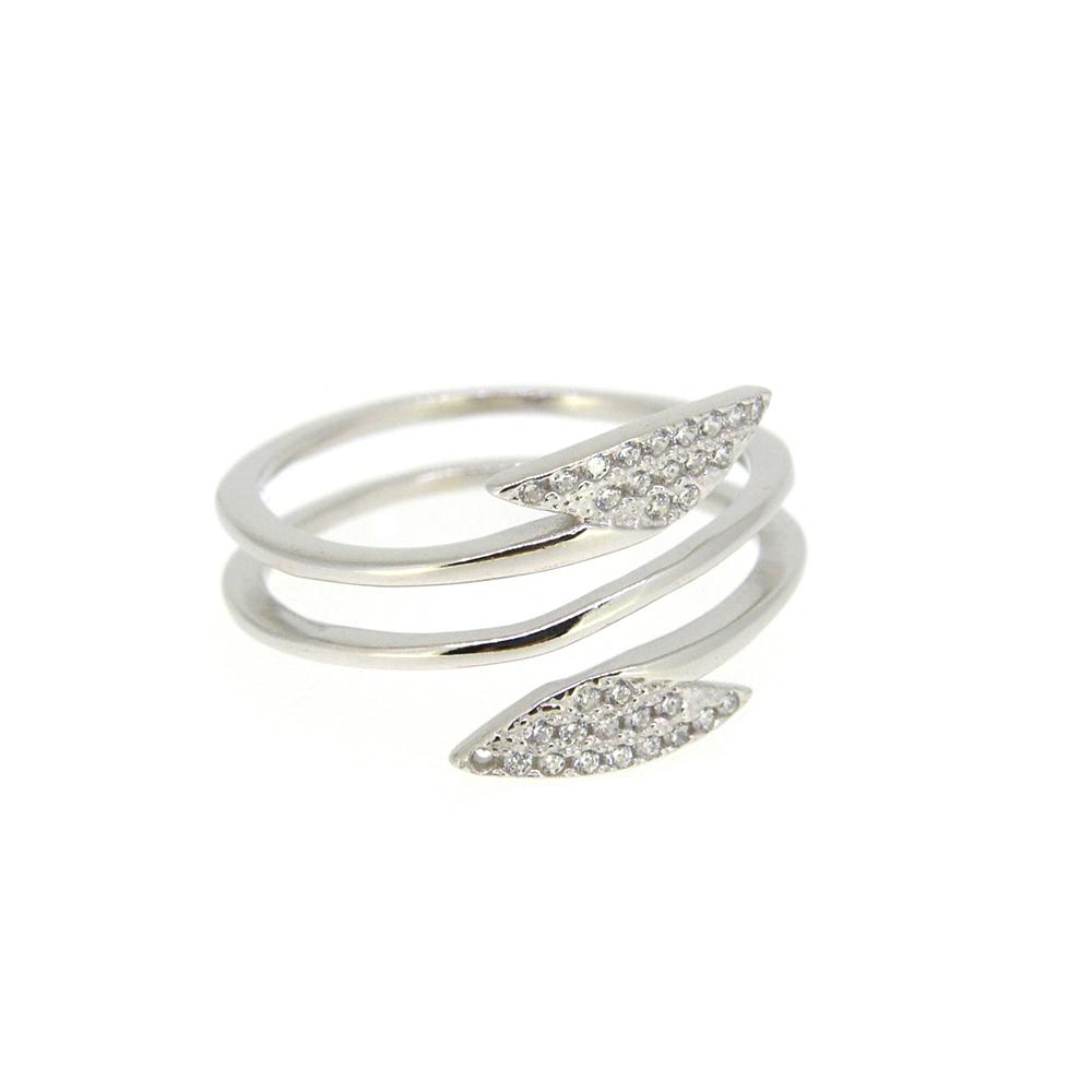 Inel din Argint 925, decorat cu zirconiu alb, m52