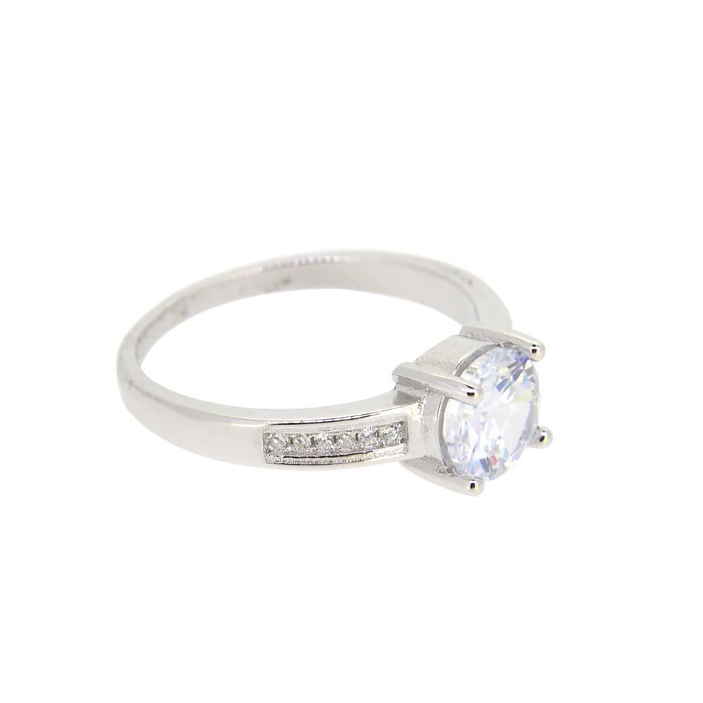 Inel din Argint 925 decorat cu piatra zirconiu alb, m57