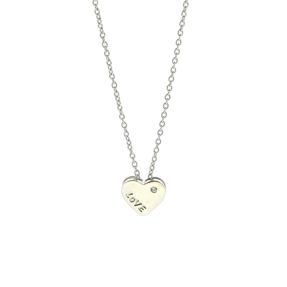 Lant Argint 925 cu inimioara mesaj love