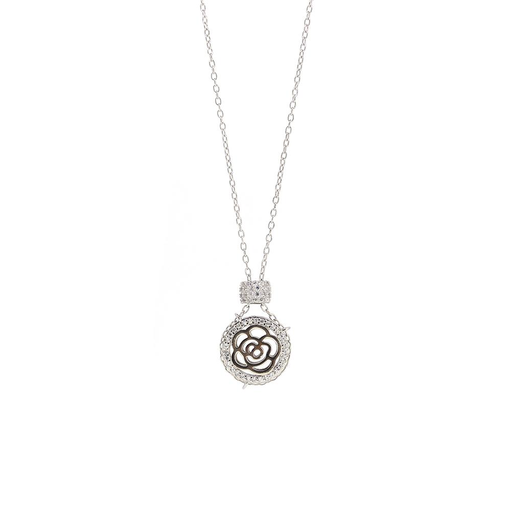 Lant Argint 925 cu pandantiv floral
