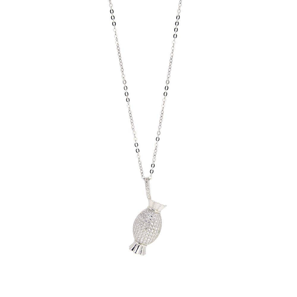 Set Argint 925, lant si pandantiv bomboana