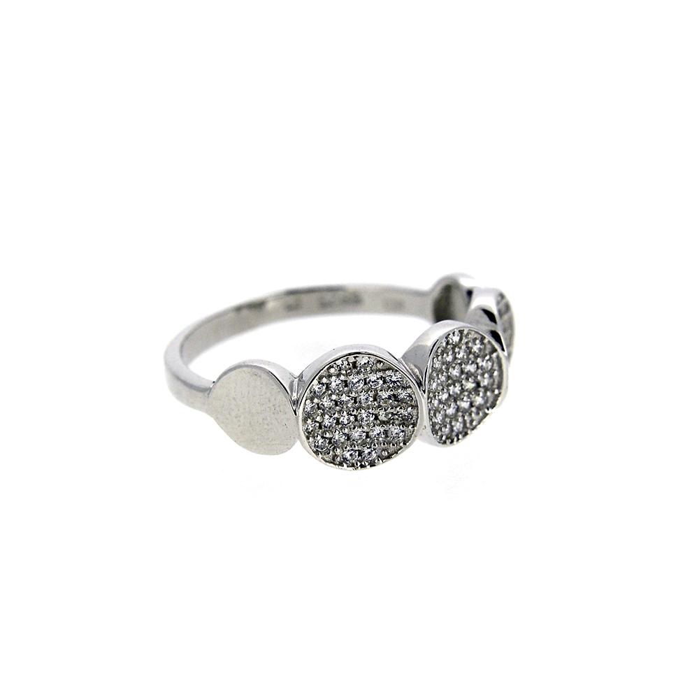 Inel din Argint 925, cu zirconii albe, m53