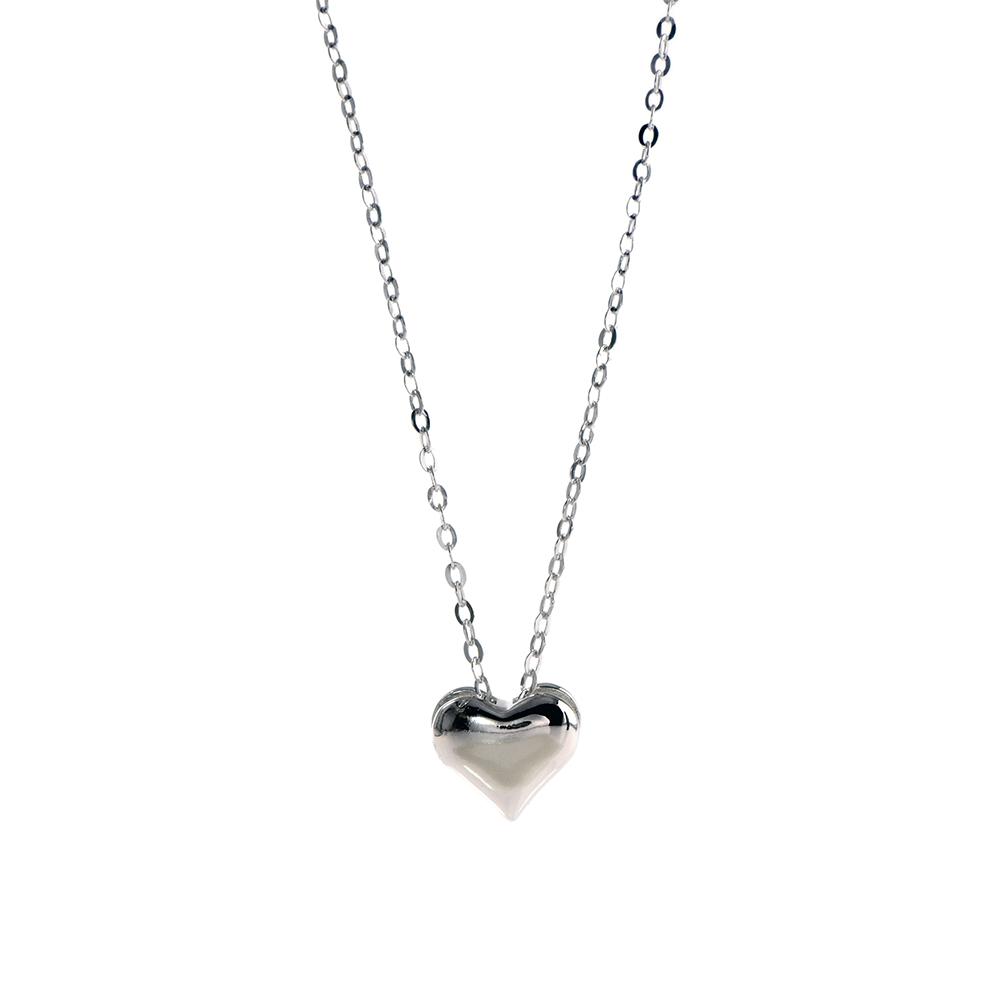 Lant din argint 925 cu pandantiv in forma de inima