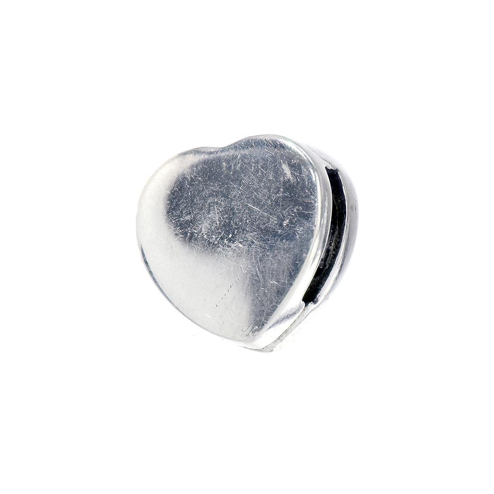 Talisman clips argint 925 inimioara pentru bratara charm plata