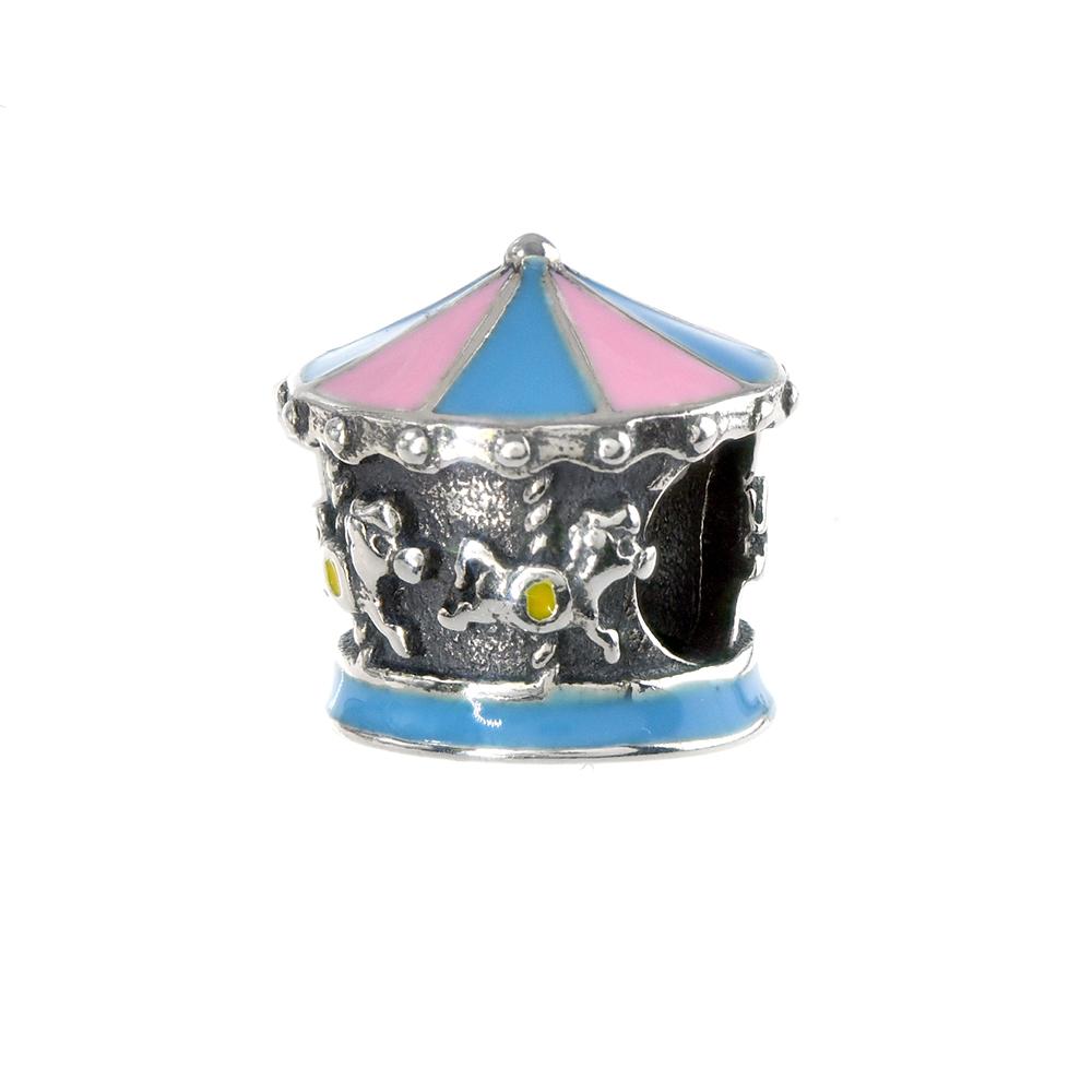 Talisman argint 925 Carusel cu email multicolor