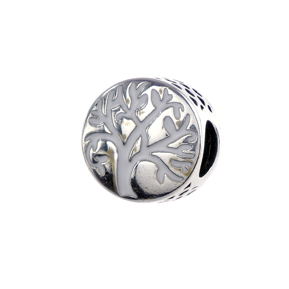 Talisman argint 925 Copacul Vietii email alb