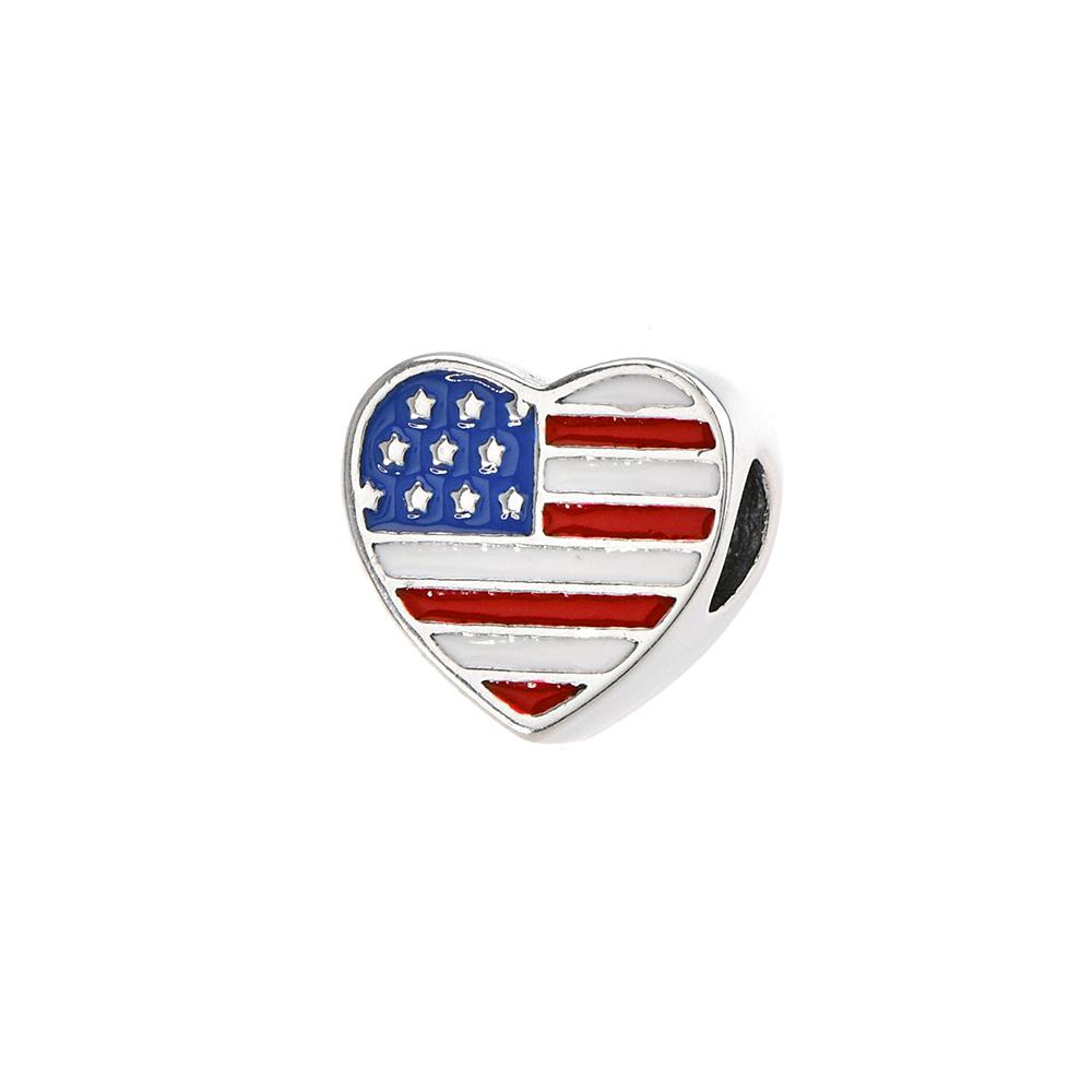 Talisman inima din Argint 925 cu email