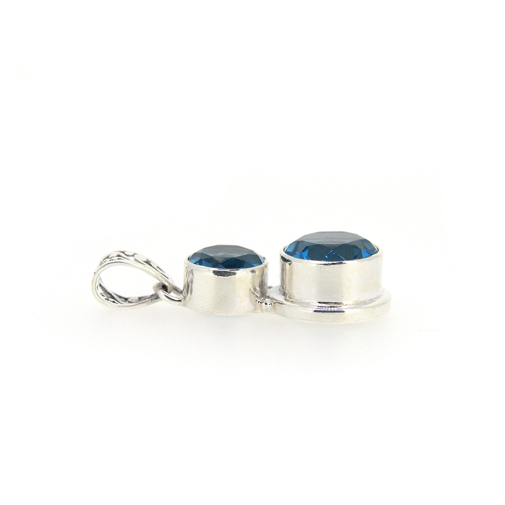 Set argint cuart mistic albastru