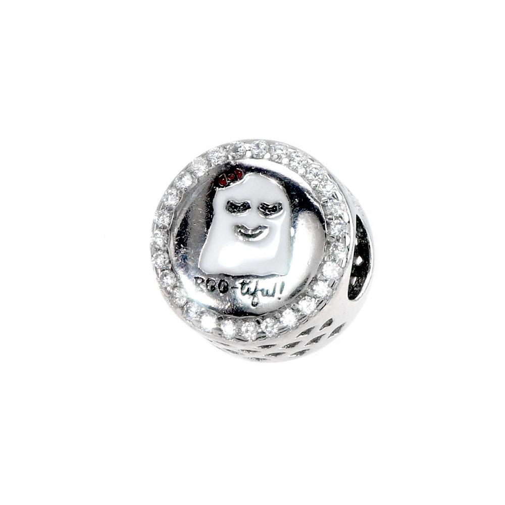 Talisman argint ghost boo-tiful