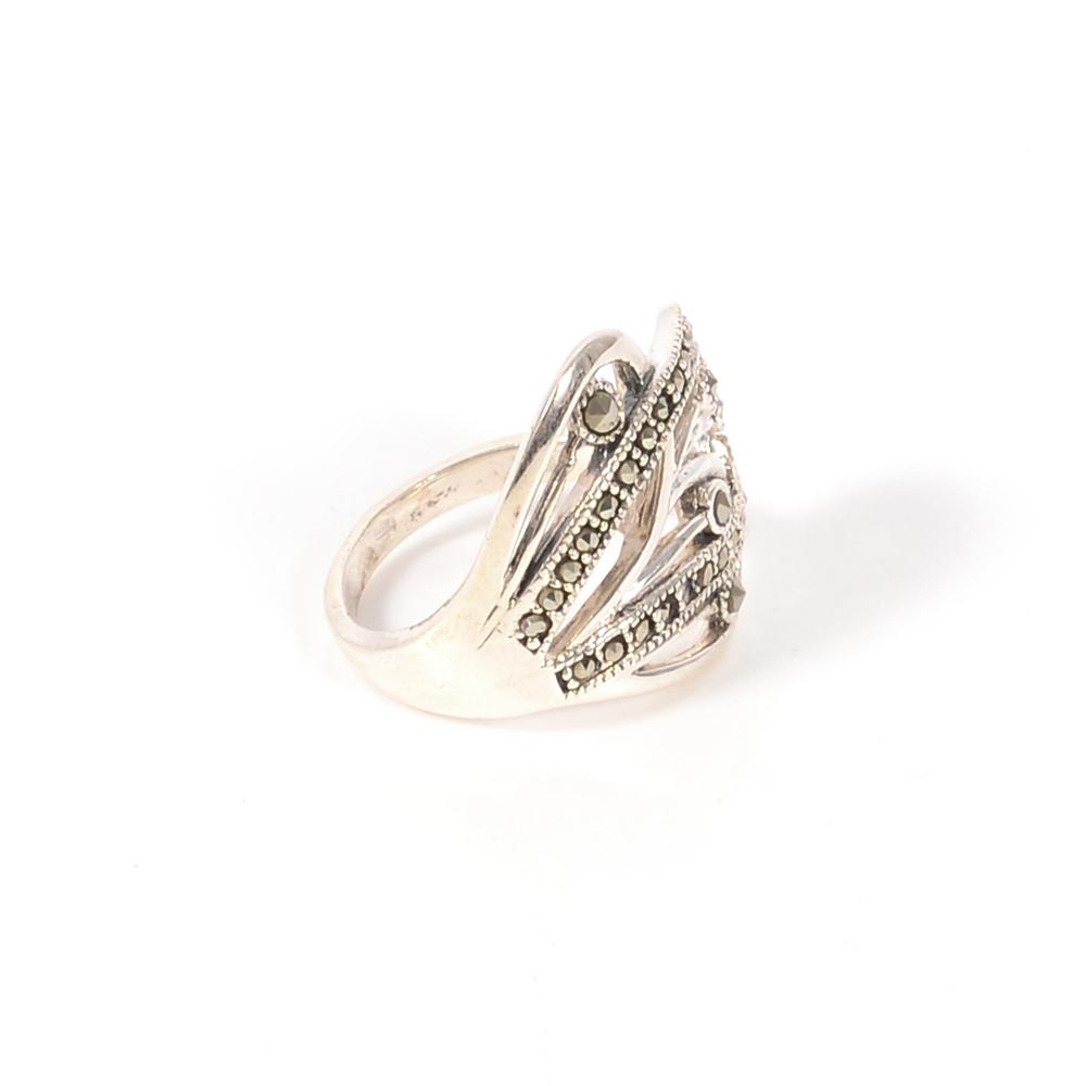 Inel argint marcasite, marime 53