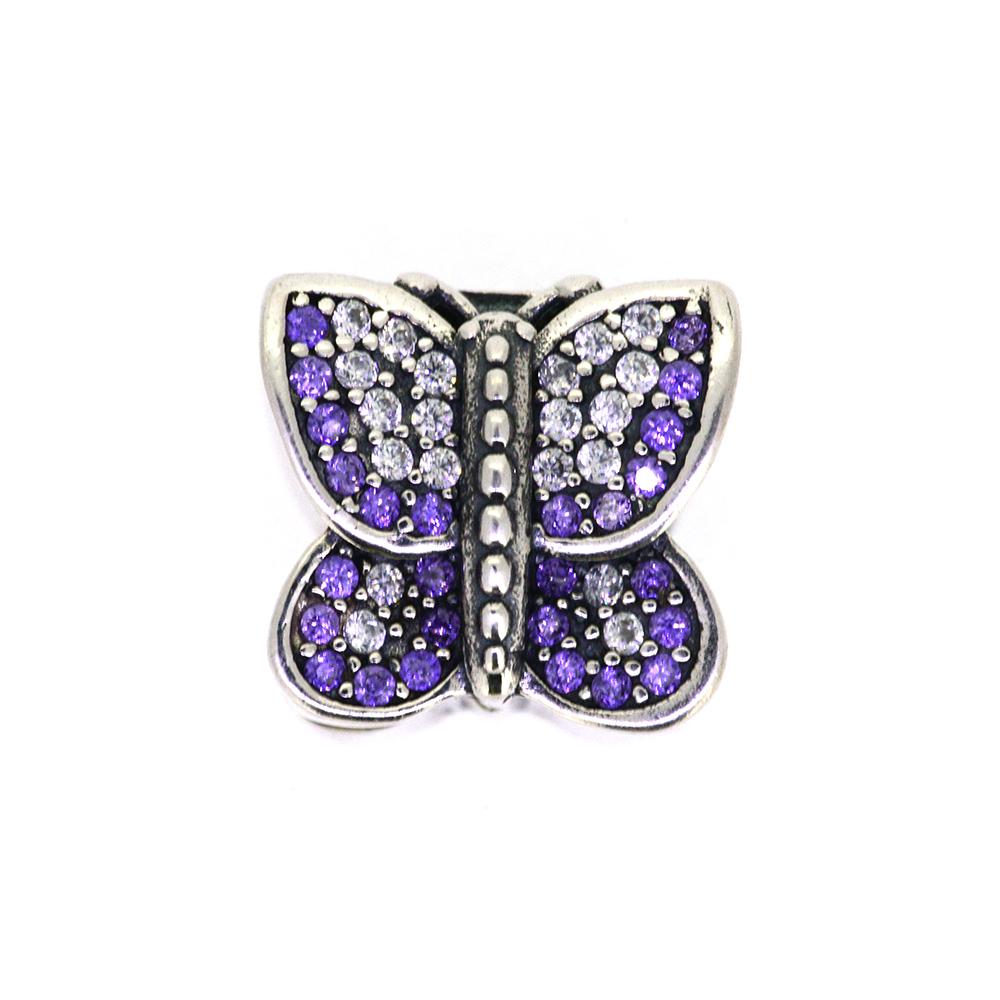 Talisman opritor argint Purple Butterfly
