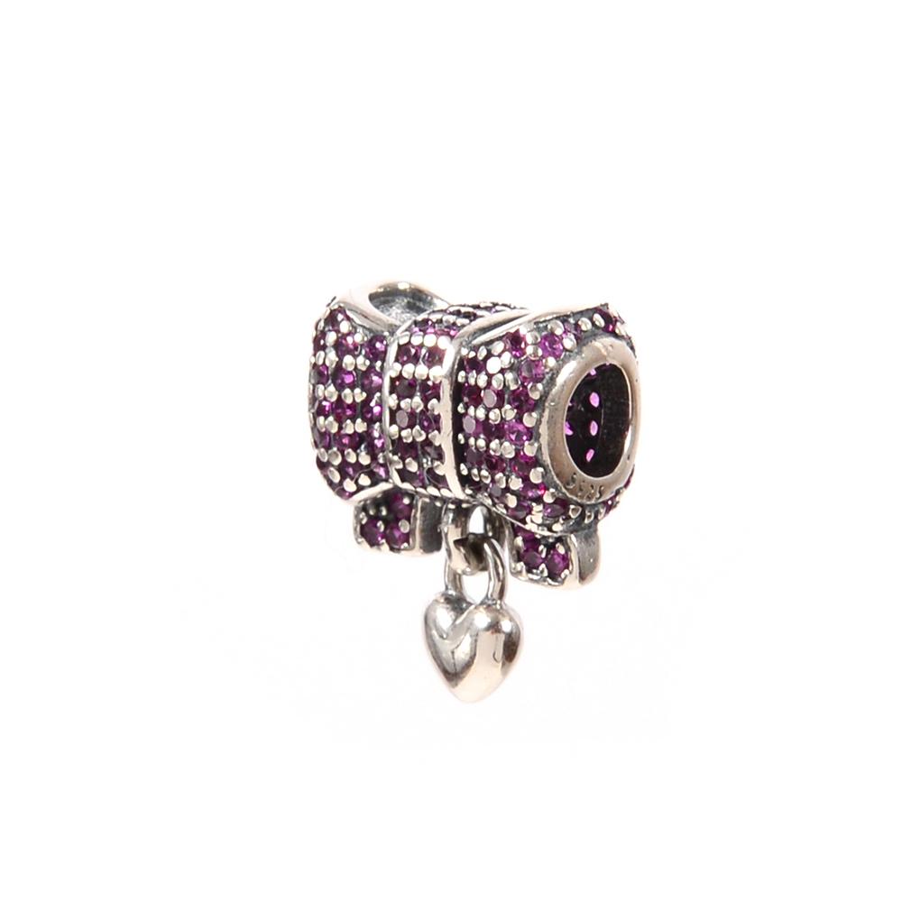Talisman argint Dark Pink