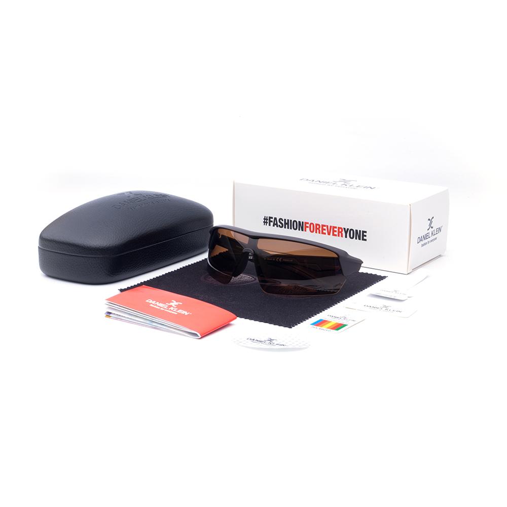 Ochelari de soare maro, pentru barbati, Daniel Klein Premium, DK3219-3