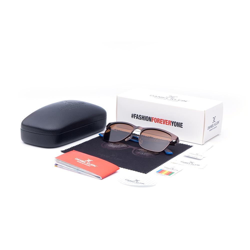 Ochelari de soare maro, pentru barbati, Daniel Klein Premium, DK3222-4