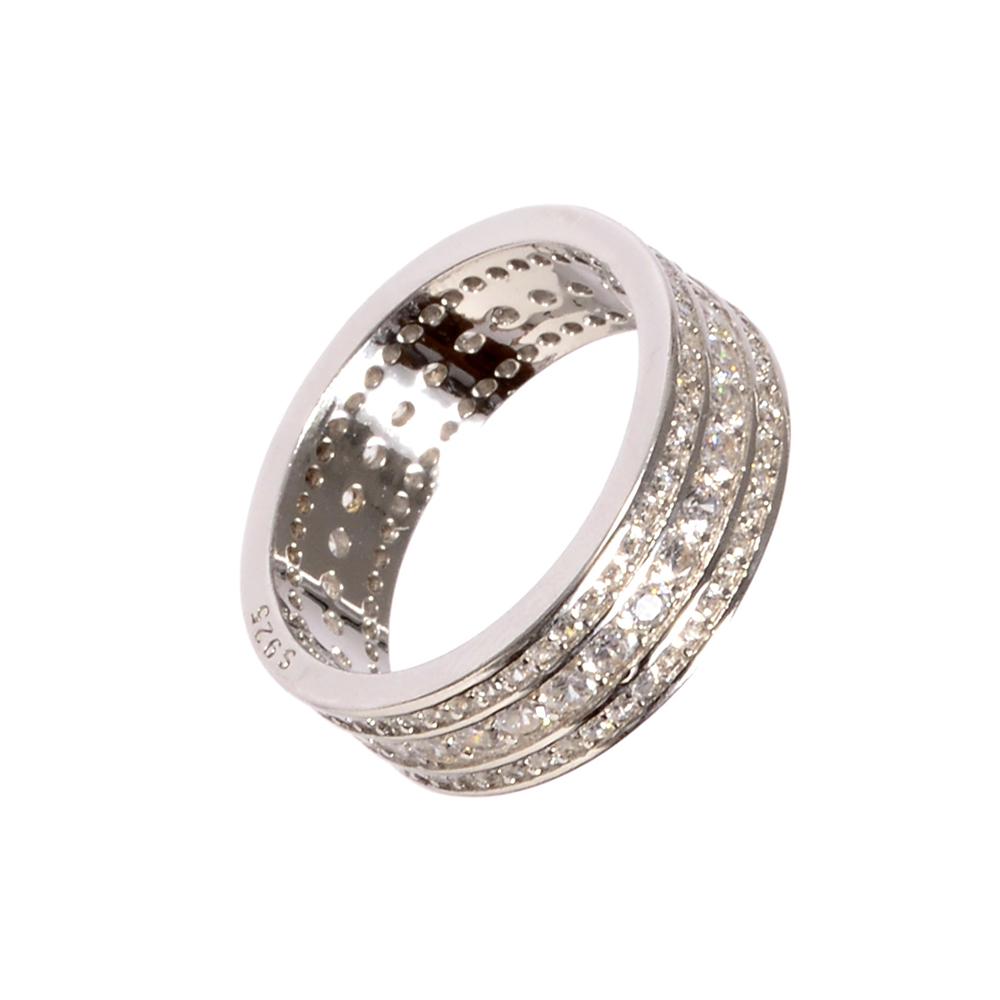 Set argint Karima cu zirconii albe, marime 53