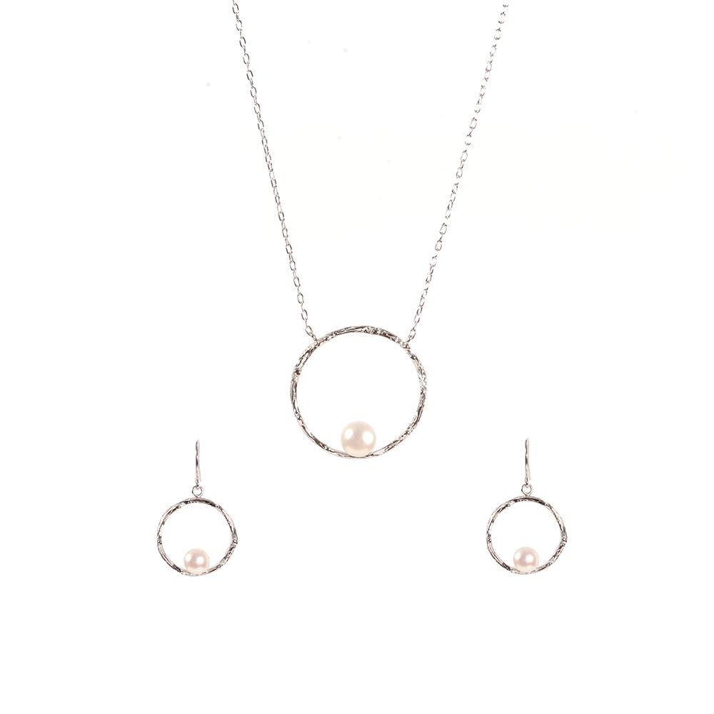 Set argint Pearl cu perle Thailanda