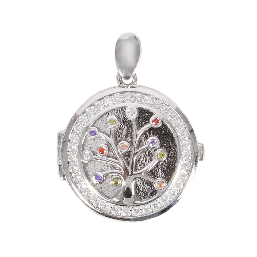 Pandantiv argint aysel cu zirconii multicolore