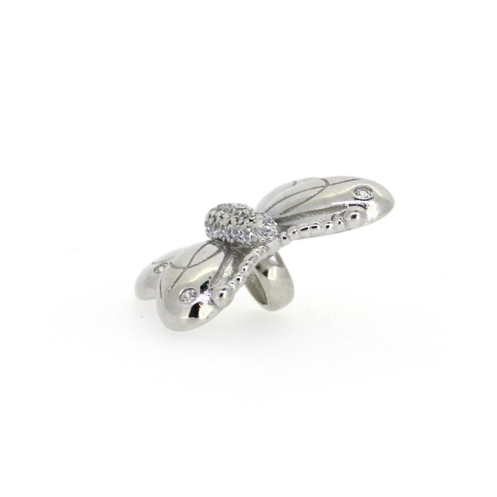 Talisman argint fluture