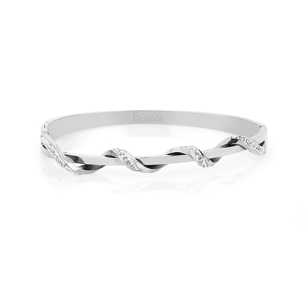 Bratara argintie, Freelook, pentru dama, din otel inoxidabil, FJ.7.20006.03