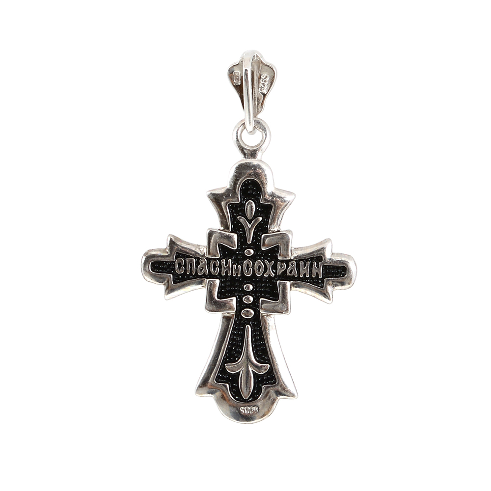 Pandantiv argint black cross