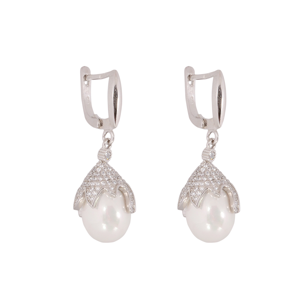Set argint Dora cu perle
