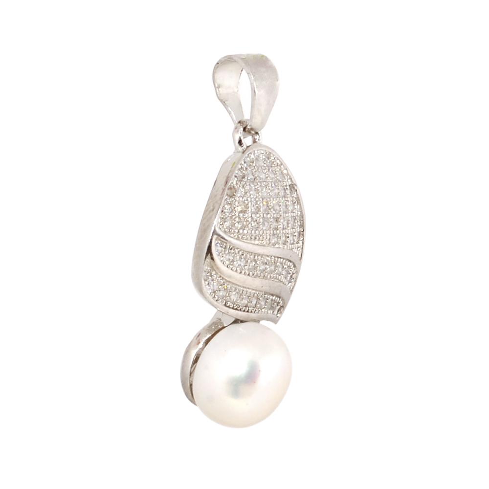 Set argint Mayra cu perle