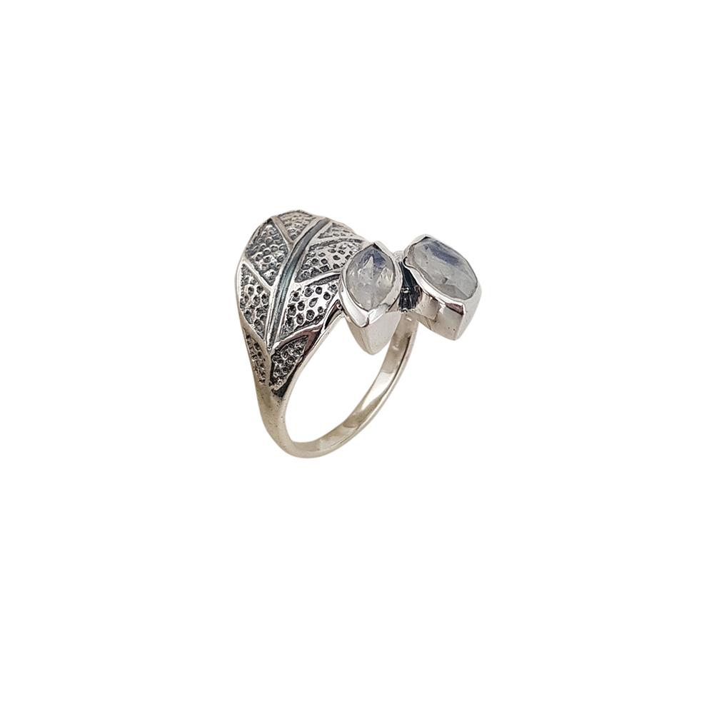 Inel argint cu piatra lunii, marime 54