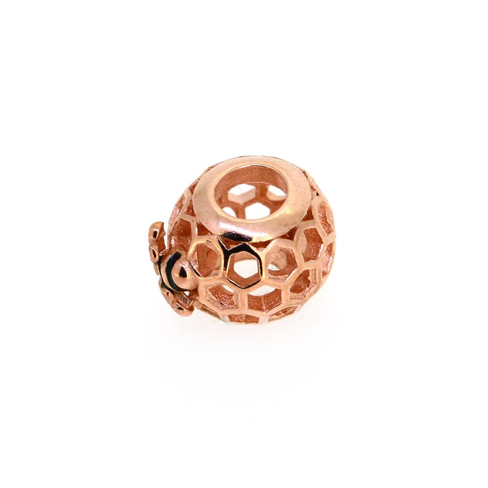 Talisman argint auriu rose Bee