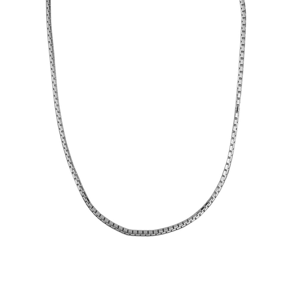 Lant argint cu zale dreptunghiulare, lungime 50 cm