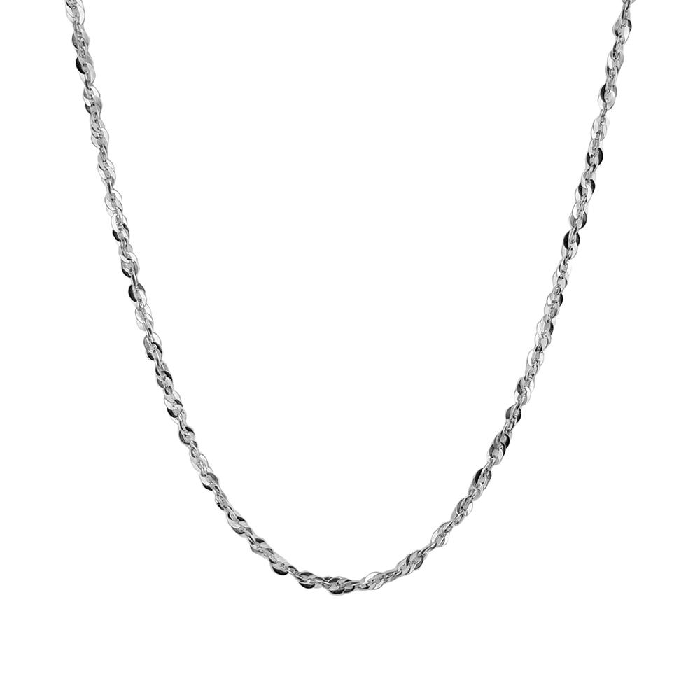 Lant argint rodiat cu zale intrepatrunse, lungime 50 cm