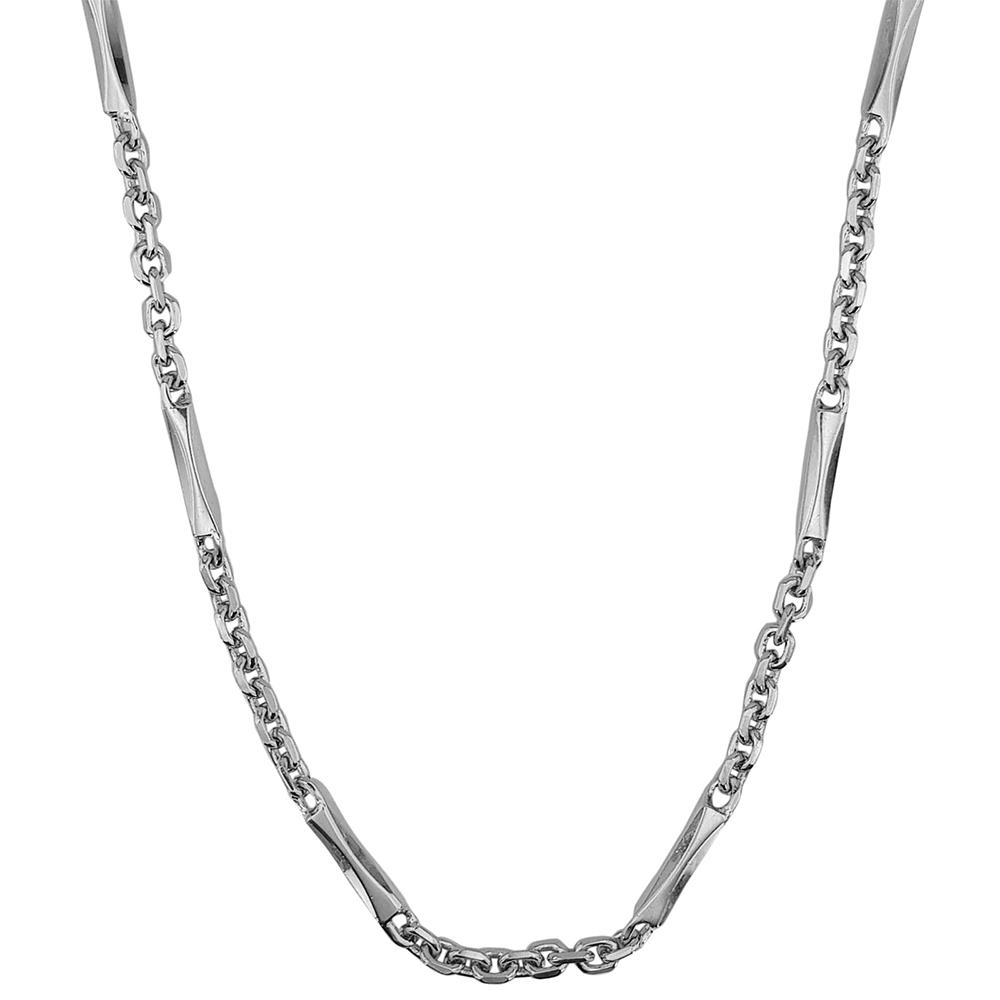 Lant barbati din argint cu aspect fashion, lungime 55 cm