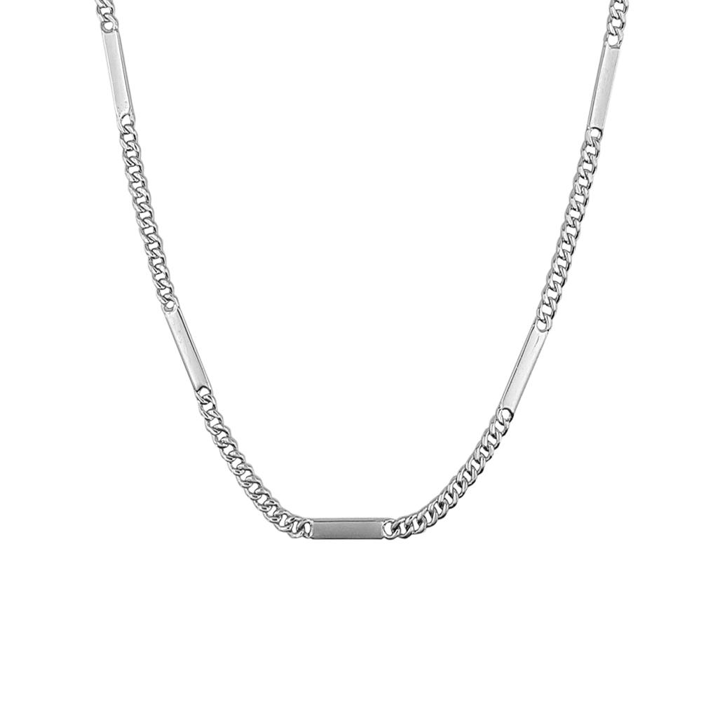 Lant barbati din argint cu placute, lungime 50 cm