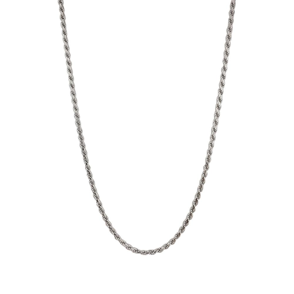 Lant impletit din argint rodiat, lungime 55 cm