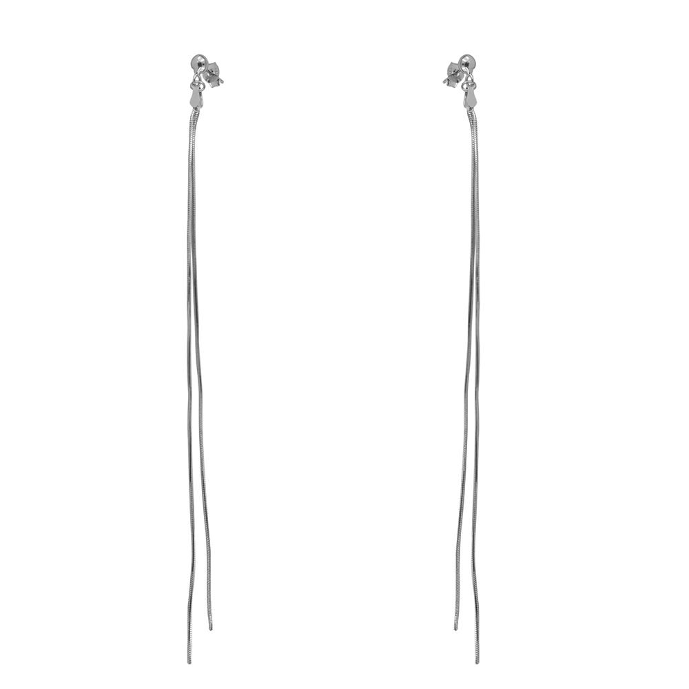 Cercei lungi din argint 2 lanturi