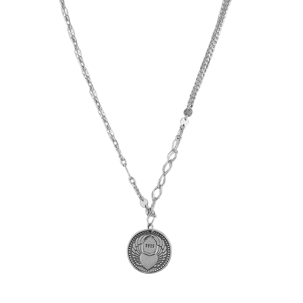 Lant argint cu pandantiv moneda