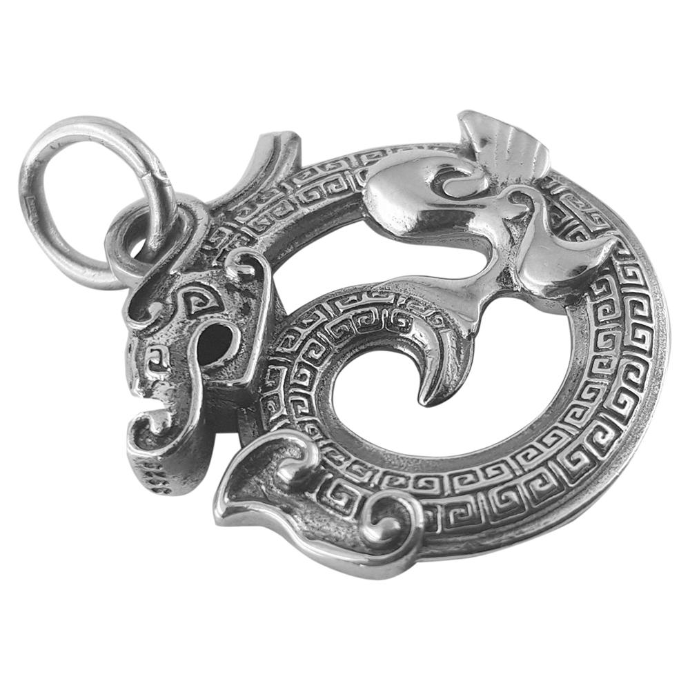 Pandantiv argint dragon de foc