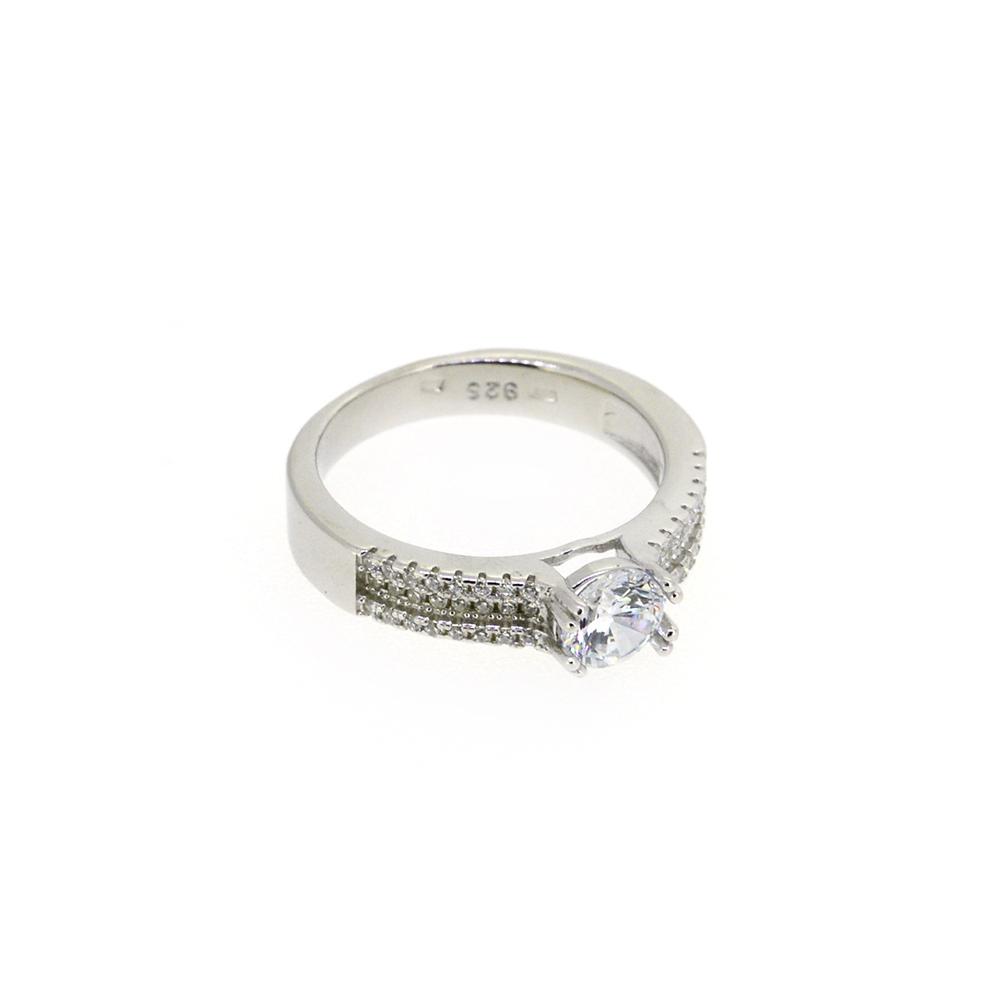 Inel argint logodna Davina, marime 51
